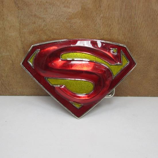 BuckleHome Superman hebilla de cinturón de metal hebilla de cinturón con acabado de plata chapado FP-02084-1 envío gratis