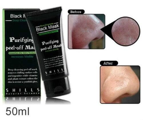 best selling SHILLS Deep Cleansing Black Mask Blackhead Remover Purifying Peel Acne Black Mud Face Mask facial mask 50ml DHL