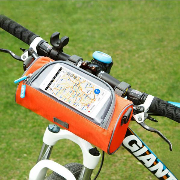 5 STÜCKE Wasserdichte Falten Fahrrad Tasche Große Radfahren Fahrrad Outdoor Lenkertasche Handy Abdeckung Tasche