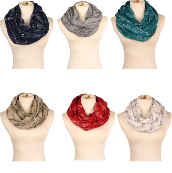 women scarf musical notation printed scarves soft Neck Scarves Shawl autumn and winter scarf Muffler Scarves LJJK742