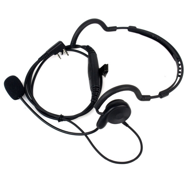 2 Pin Radio Earpiece Mic PTT Headset for BAOFENG UV-5R 777 888s for Kenwood TK-208 TK-220 TK-240 PUXING Walkie Talkie C2036A