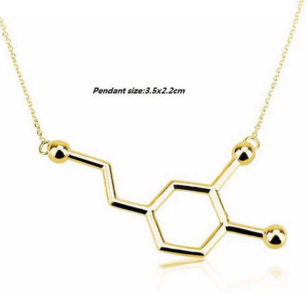 Wholesale New Chemistry Structure Pendant Necklace Dopamine Molecule Necklace Chemistry Necklace Tiny Infinity Men Women Unisex Jewelry
