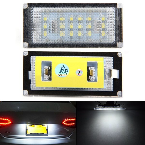 2x Error Free 18SMD LED License Number Plate Light Lamps Auto Bulb Car Light Source fit for BMW E46 2D Facelift E46 M3 Facelift