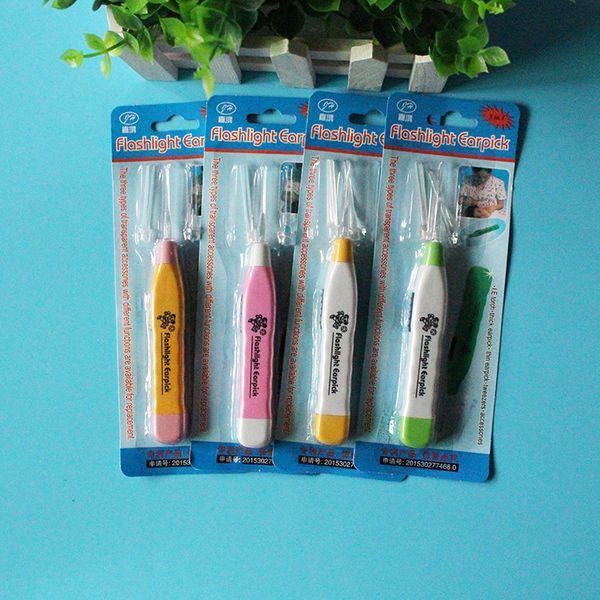 Creative gifts baby plastic handle child safety lighting earpick led Ershao