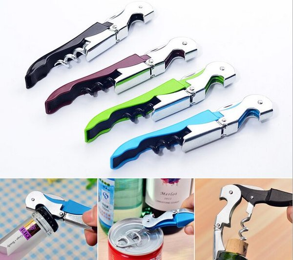 top popular Hot Wine Tool Stainless Steel Bottle Opener Sea horse Corkscrew Knife Pulltap Double Hinged Corkscrew 500pcs 2019