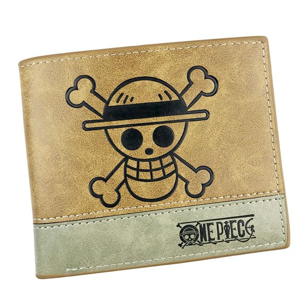 Anime ONE PIECE Short Wallet High Quality PU Leather Purse of Monkey D Luffy/Tony Tony Chopper Cosplay Gift Card Holder Money Bag