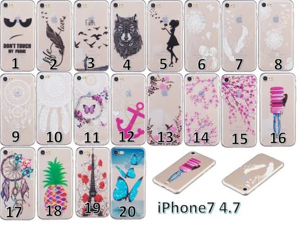 Transparent Dreamcatcher Soft TPU Case For Iphone 8 7 Plus Iphone7 Samsung Galaxy J310 J3 2016 Butterfly Bird Tower Cherry Clear Skin Cover