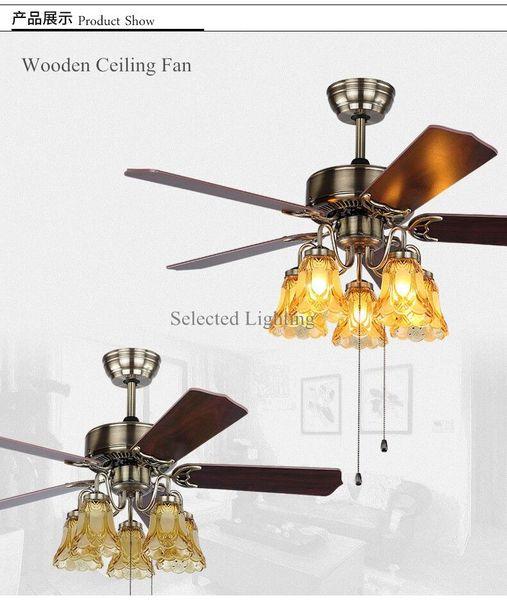 48 fan di legno pollici