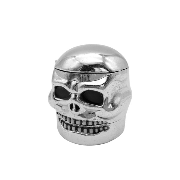 Nueva Creative 3 Capa Skull Head Crown Metal Hand Muller Polen Molinillo de Tabaco Fumar Herb Herbal Grinder