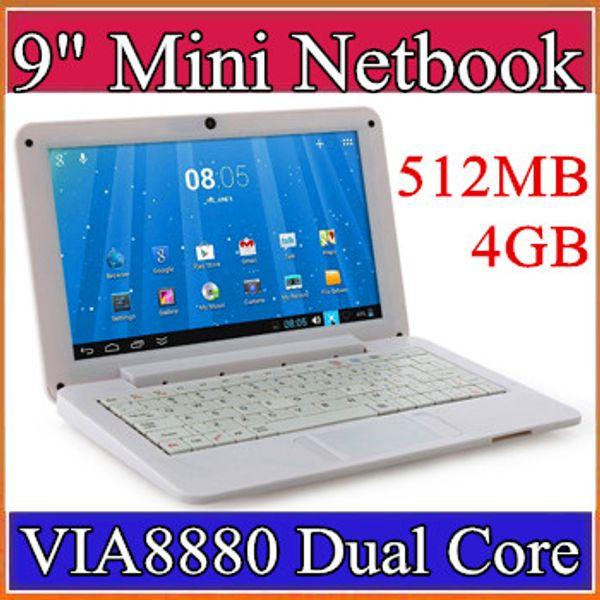 Mini portátil de 9 pulgadas VIA8880 Netbook Android 4.2 portátiles VIA8880 9