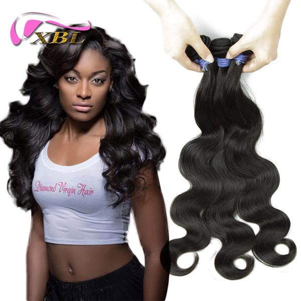 Precio al por mayor dentro del 50% de descuento Extensiones de cabello malasio Onda del cuerpo 3 pedazos de paquetes de cabello humano DHL envío gratis