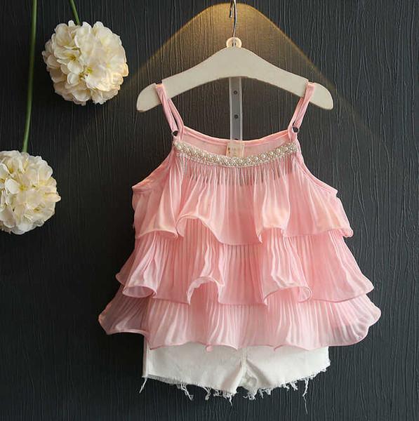 2016 yeni yaz moda batı tarzı elbise kız bebek mantarı iki parçalı Lolita sevimli kız şort