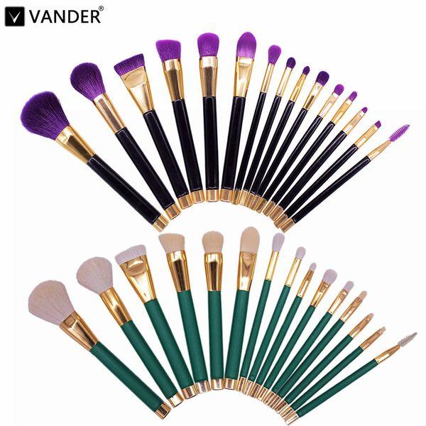 Professional 15pcs/Lot Makeup Brushes Set Make Up Brush Tools Cosmetic Brush Foundation Brush Kits Blending Pencil Kabuki Wood