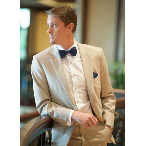 Handsome Champagne Tan Men Suit Casual Blazer Wedding Suits for Men Slim Fit Skinny 2 Piece Wedding Prom Suits (Jacket+Pants) G356
