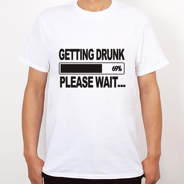 Toptan-Sarhoş Bira Stag Parti Hediye Komik Erkek T Shirt Daha Boyutu ve Renkleri Başlarken