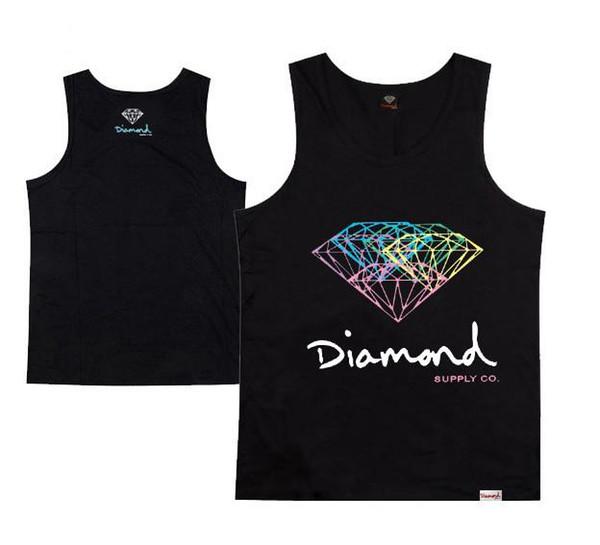 Top Diamond Supply Muscle vest Tank Men's brand printing vest fashion designer vest for men top silk tanks free shipping