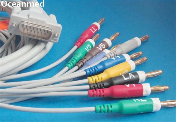 Оптово-Шиллер ЭКГ/ЭКГ кабеля, 10 приводит, Banana4.0 АХА для Бионет, Уэлч Аллин, совместимый 293-032-60