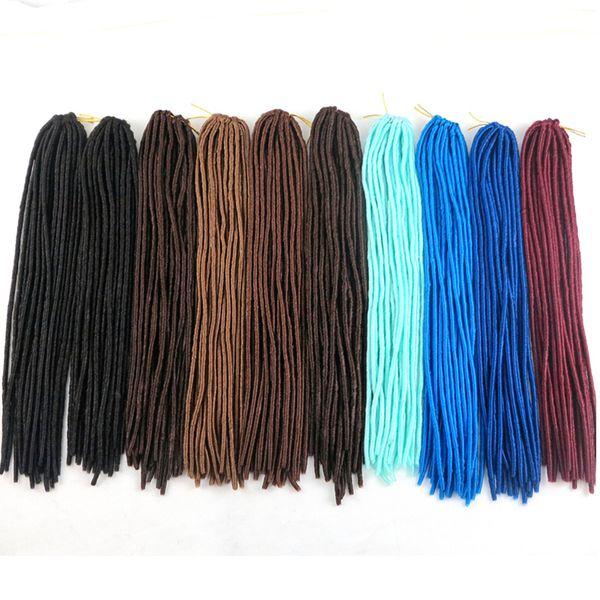 top popular Synthetic Faux locs braiding hair crochet braid twist hair pieces 20inch 100g soft dreadlocks kanekalon hair extensions 2019