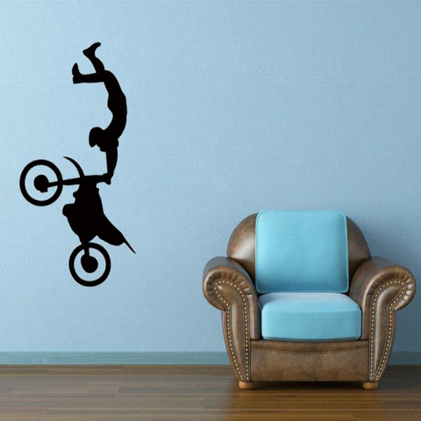 58cm x 30.7cm Freestyle Motocross Bike Motorcycle Sport Car Sticker For Cars Side, Truck Window ,Auto Door Vinyl Decal 8 Colors