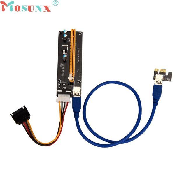 Wholesale- Ecosin2 PCI-E Express Powered Riser Card W/ USB 3.0 extender Cable 1x to 16x Monero JUL 4 Levert Dropship