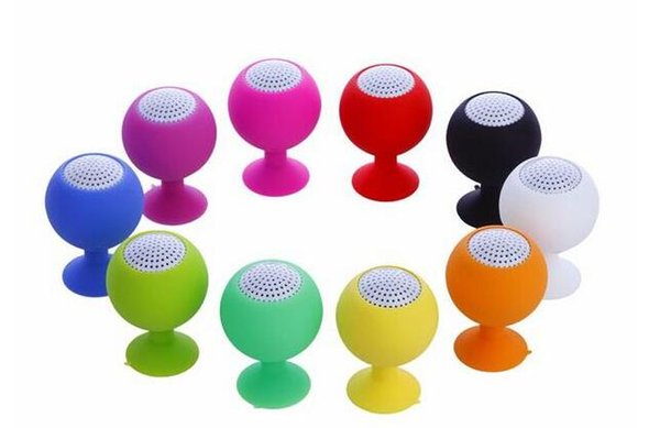Portable Mini Silicone Sucker Speakers Red Wine Glass Shape Tablet Phone Stents Speakers Suitable for 3.5 mm Audio Output Device