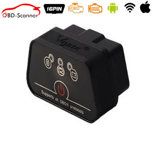 Vgate Wifi iCar 2 OBDII ELM327 iCar2 wifi vgate OBD diagnostic interface for IOS iPhone iPad Android 6 color optional
