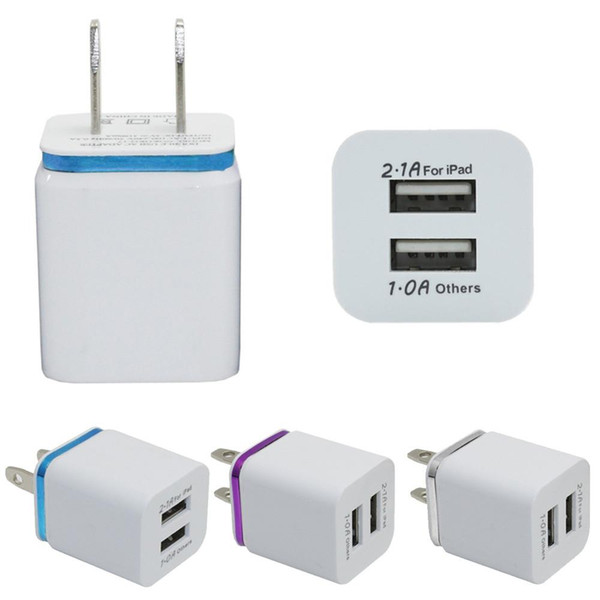 Good Quality US EU Travel Home Wall USB Charger plug Adapter Wall Charger Plug 2 port for samsung galaxy note LG tablet ipad