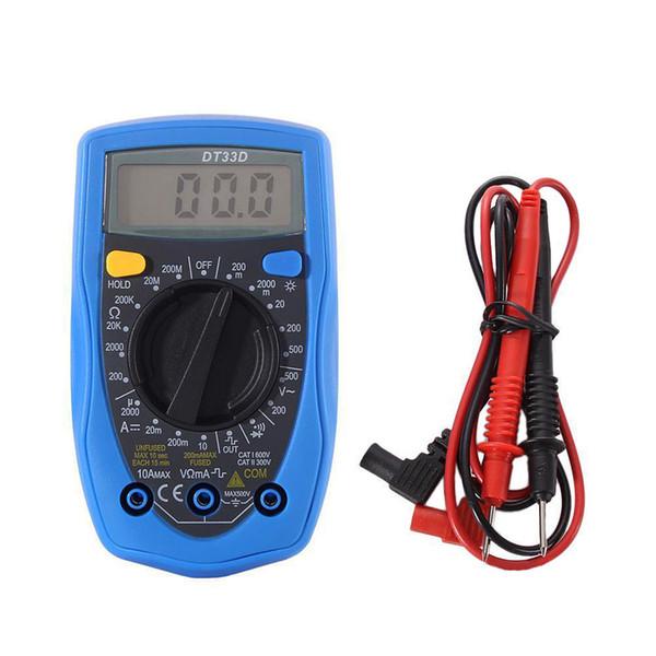 Digital Multimeter Handheld AC DC Volt Ohm Ammeter Meter UNI-T UT33D B00336