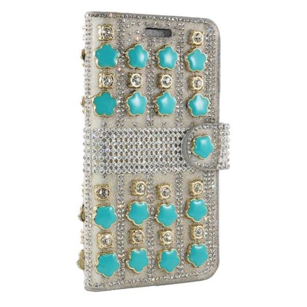 For Alcatel Walters A30 Fierce 4 Stellar Tru Dawn 5027 Luxury Flower Pattern Glitter Shinny Leather Wallet Case Rhinestone Cover Card Slot