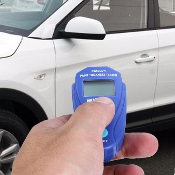 Misuratore di spessore del tester di spessore della vernice per auto digitale Mini Misuratore di spessore del misuratore di spessore per automobili portatile digitale Strumento di diagnostica manuale russo