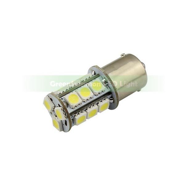 BA15S 1156 Sıcak Beyaz 18-SMD 5050 LED DC 12 V Araba Dönüş Sinyali Kuyruk Beyaz Işık Ampüller