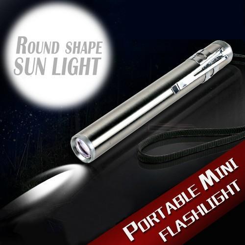 2016 Yuvarlak Ay Şekli Işık Alüminyum Alaşım Mini LED El Feneri XML Cree Led El Feneri Torch Yüksek güç Led anahtarlık Ile taşınabilir kuyruk
