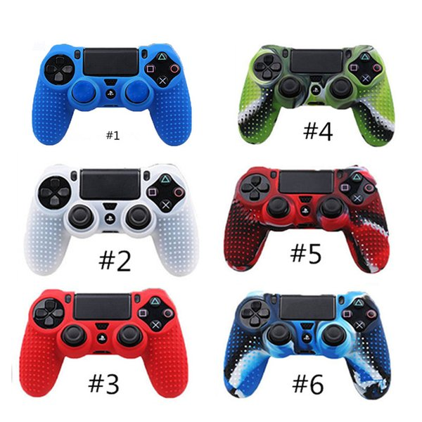 best selling 2017 Hot PS4 Game Controller Protective Skin Case Cover Soft Silicone Anti-slip For Playstation 4 PS4 Wireless Controller Free DHL