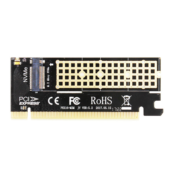 best selling MX16 M.2 NVMe SSD NGFF TO PCIE 3.0 X16 adapter M Key interface card Suppor PCI Express 3.0 x4 2230-2280 Size m.2 FULL SPEED
