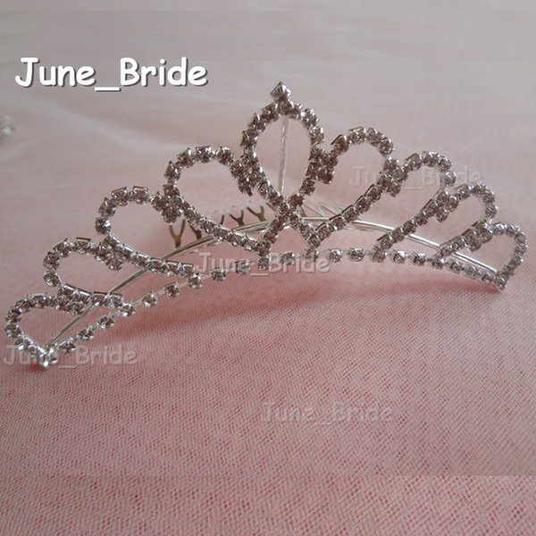 Real Photo New High Quality Heart Shape Bridal Crown Wedding Crystal Rhinestone Hair Accessory Sydney Bridal Comb Tiara Bridal Accessories
