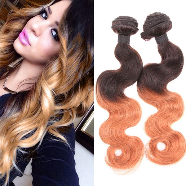 Ombre Color Hair 8a Virgin Brazilian Body Wave Two Tone Hair