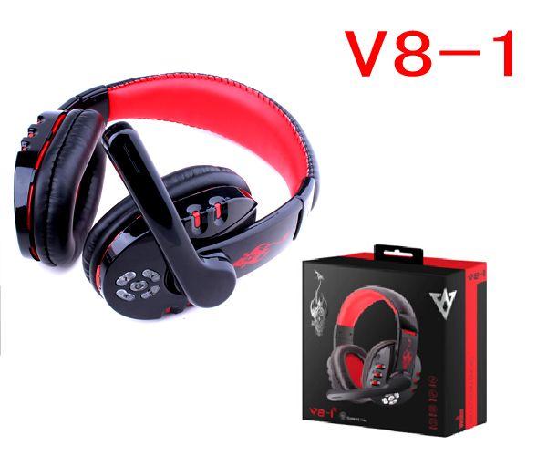 V8-1 sans fil Bluetooth V3.0 casque écouteurs avec microphone stéréo Hifi casque musique pour iphone Samsung