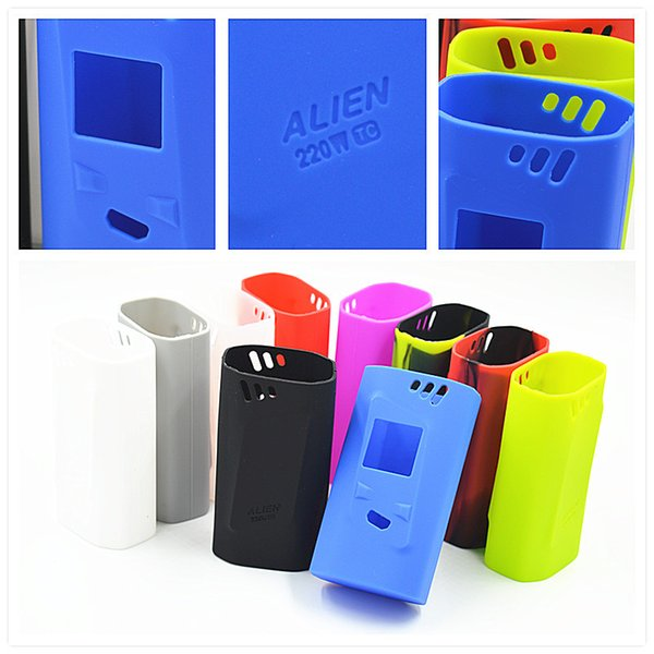 Alien 220w Silicone Case Colorful Rubber Sleeve Protective Cover Skin For SMOK SmokTech Alien 220 TC Box Mod Kit Vape DHL
