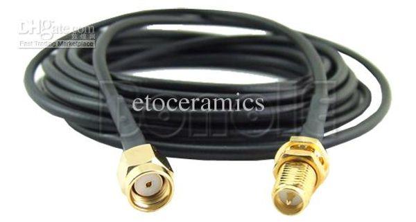 Toptan 3 M / 6 M / 9 M Anten RP-SMA Uzatma Kablosu Wi-Fi Router / SMA Koaksiyel Adaptörü lots200