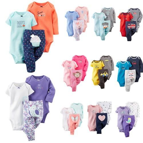 2016 Children's suit The spring and Autumn period and the length of 3 piece of clothing pants sets kids cotton suits