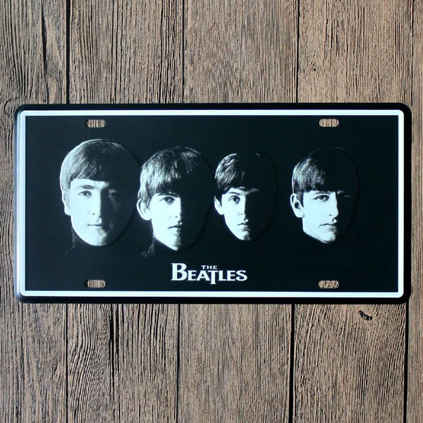 The Beatles vintage embossed metal tin signs garage car plate licence number plate painting plaque picture 15x30cm