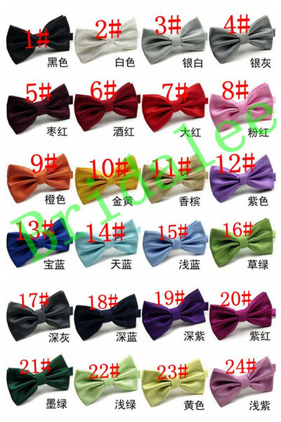 New 2017 Fashion Bow Tie Pocket Married Bow Ties Male Bow Candy Color Butterfly Ties for Men Women Mens Bowties 24 Colors