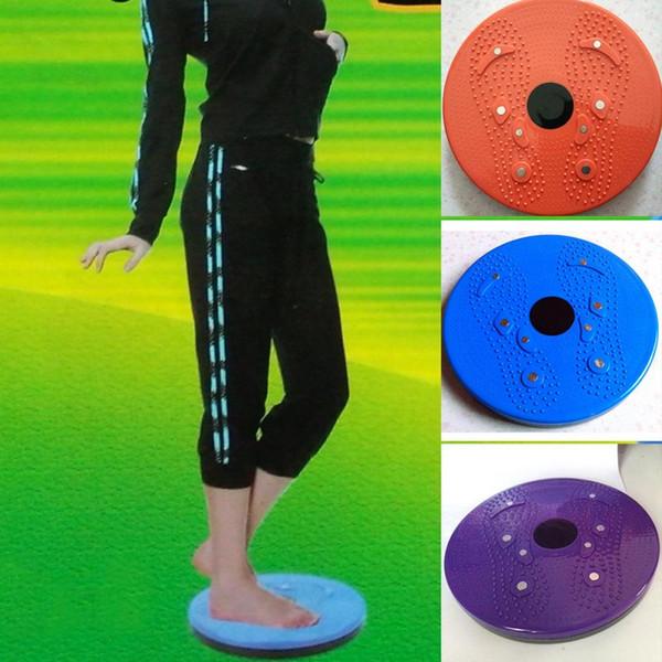 Al por mayor-1Pcs color al azar Twister placa placa de giro placa magnética Twist Disk Slimming Piernas Fitness Equipment pequeño producto de la aptitud para el hogar