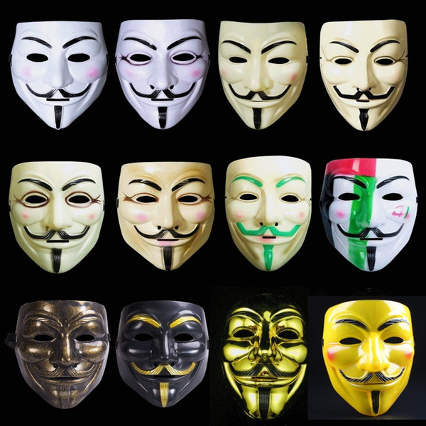 V Vendetta Mask Halloween Party Mask For Adult Full Face Mask