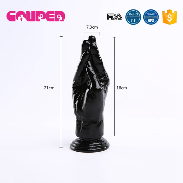 FREE SHIPPING!21*7.5cm biack silicone big huge dildo hand large dildos,strong suction cup penis adult gay sex toys for women