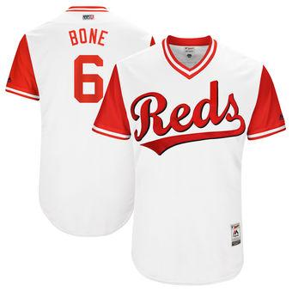 68d0d28a3 Baseball Jerseys Mlb Sports Cincinnati Reds Billy Hamilton Bone Majestic  White 2017 Players Weekend Authentic Jersey