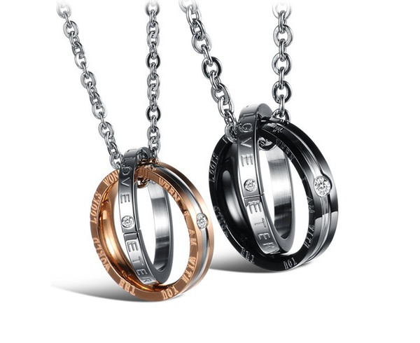 presente de natal nova marca de aço inoxidável colar presentes do namorado presentes da namorada colares pingentes com correntes acessórios de moda