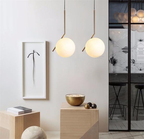 Großhandel L15 Modern Minimalist Pendelleuchte Lampe Nordic Glaskugel Lampe  Startseite / Bekleidung Decken Dekoration Für Wohnzimmer Schlafzimmer Room  ...