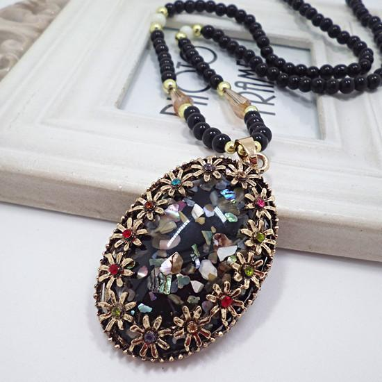 Wholesale New fashion Sweater chain Vintage shell jewelry necklace Korea girl gift Pendant necklaces