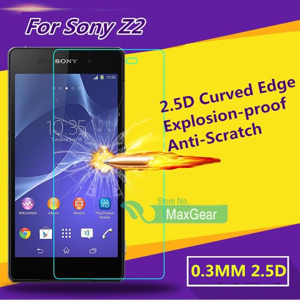 Film anti-déflagrant incurvé de 2.5 mm 2.5D Edge Edge pour Sony Xperia Z2 Z1 Z3